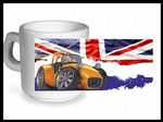 Koolart CLASSIC BRITISH Design For Caterham Seven 7 - Ceramic Tea Or Coffee Mug